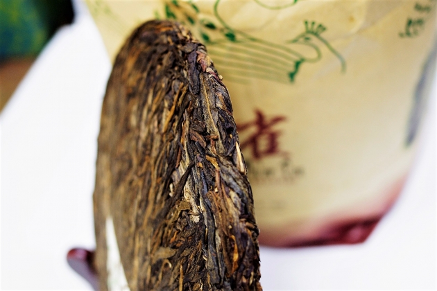 2007 Golden Peafowl-Puerh tea of Ancient Trees Raw Cake 5