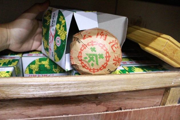 1990s Xia Guan XiaoFa Tuo Cha- Export France- Original Wooden Carton 3